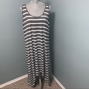 Penningtons Additionelle grey and white maxi dress